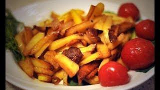 Как пожарить картофель правильно с румяной корочкой