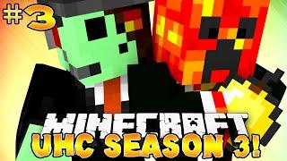 "Minecraft UHC Season 3 - ""ZOMBIE SPAWNER!"" #3 with Preston & PeteZahutt!"