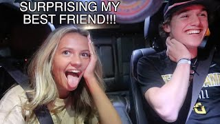 FLYING ACROSS THE COUNTRY TO SURPRISE MY BEST FRIEND!!! *he cried*
