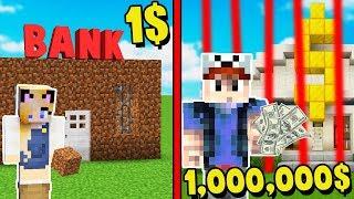 MINECRAFT - BANK ZA 1$ VS BANK ZA 1,000,000$ | Vito i Bella