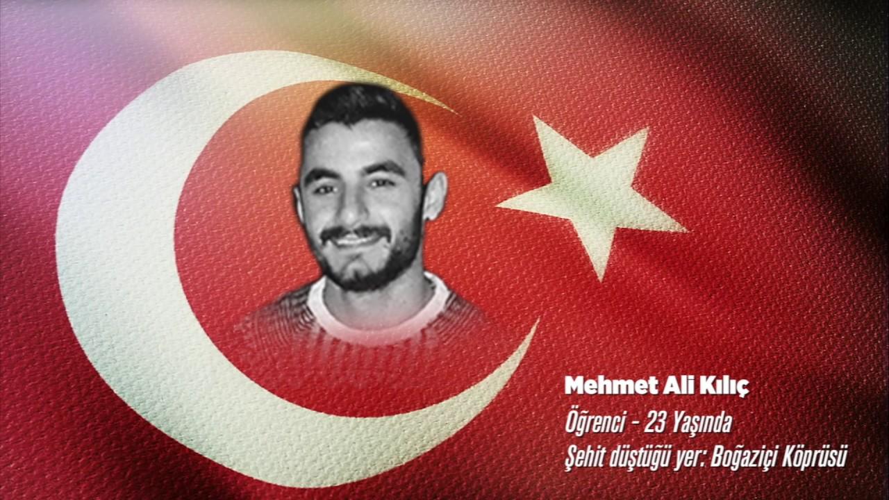 15 Temmuz Şehidi Mehmet Ali Kılıç