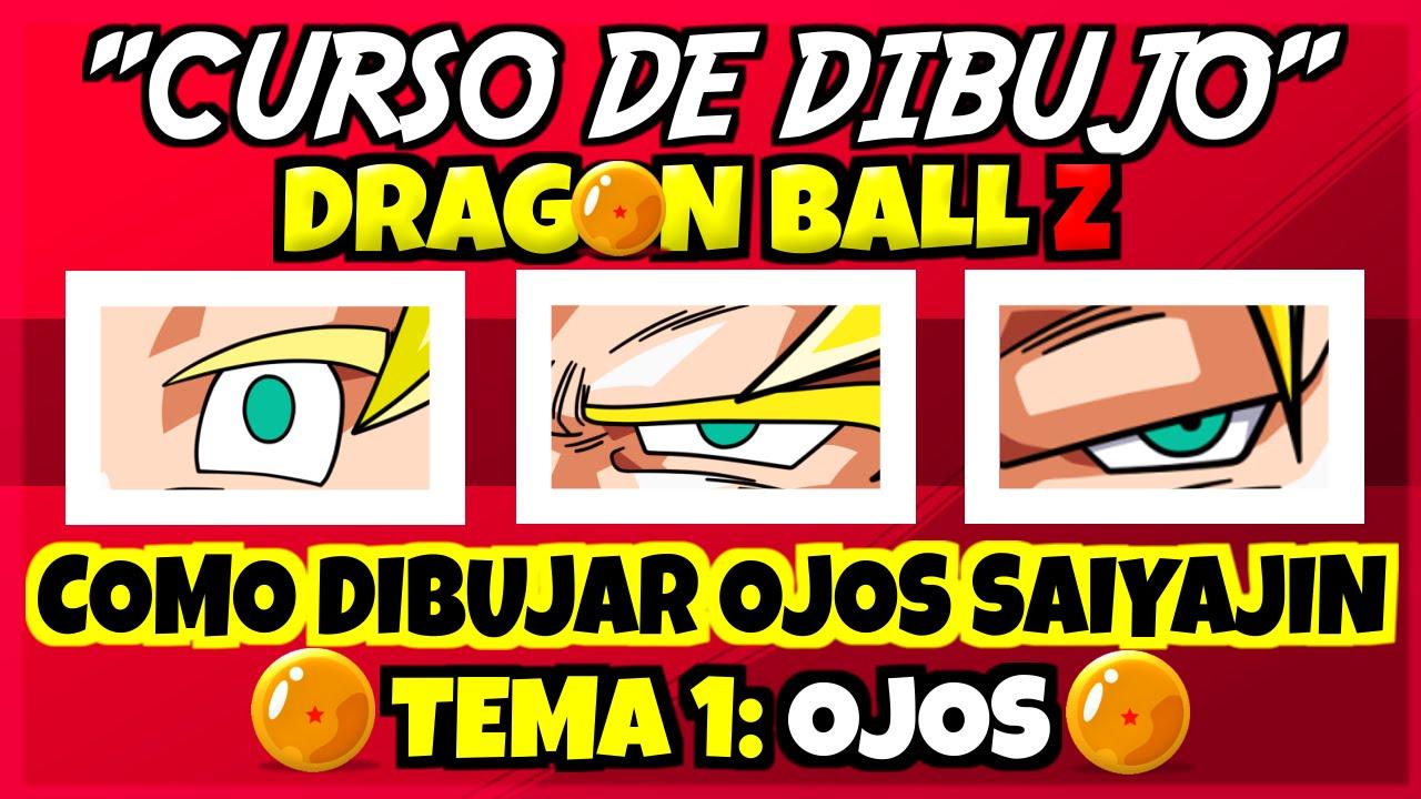 COMO DIBUJAR DRAGON BALL Z  OJOS  YouTube