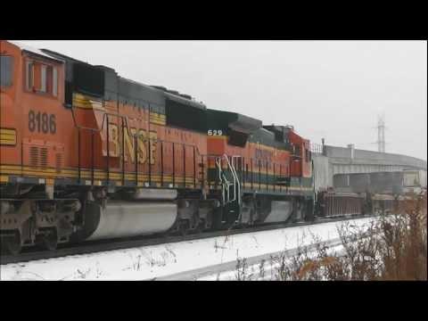 Trains at Bridgeport Jct & 50th St, Chicago, 02.07.13: CSX, CN, BNSF, Amtrak & CTA