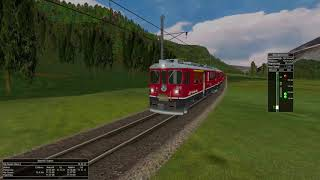 Open Rails - Bernina Express Pontresina - Poschiavo MSTS