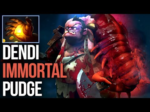 Dendi Solo Mid Midas Pudge with EPIC NEW IMMORTAL SET Dota 2