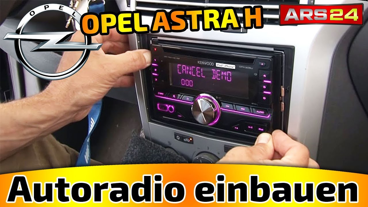 autoradio einbau opel astra h ars24 einbau tutorial. Black Bedroom Furniture Sets. Home Design Ideas