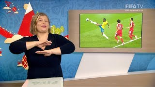 fifa wc 2018 - srb vs bra  for deaf and hard of hearing - international sign