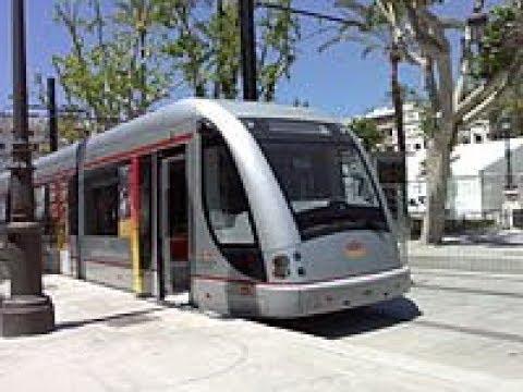 MetroCentro Seville, Spain. Wow, Hybrid Tram Ride Experience!