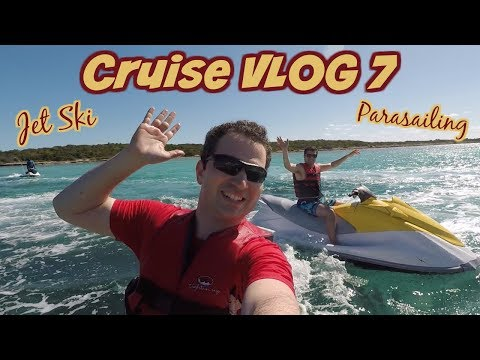 The Best Day EVER at Castaway Cay 🌴 Jet Ski's and Parasailing | Disney Wonder | Disney Cruise VLOG 7