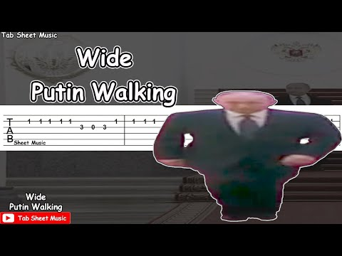 Wide Putin Walking (Meme) Guitar Tutorial