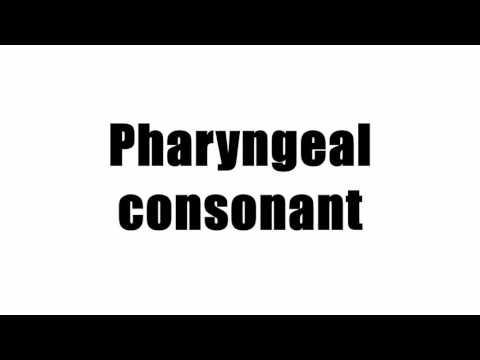 Pharyngeal consonant