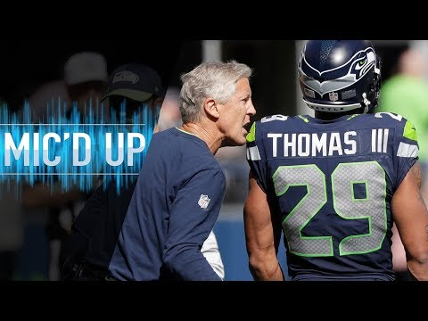 """Pete Carroll Mic'd Up vs. Cowboys """"Ref Just Told Me Can You Keep Your Guy From Flexing?"""" 