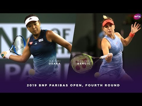Naomi Osaka vs. Belinda Bencic | 2019 BNP Paribas Open Fourth Round | WTA Highlights