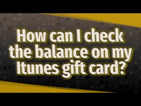 How Can I Check The Balance On My Itunes Gift Card?