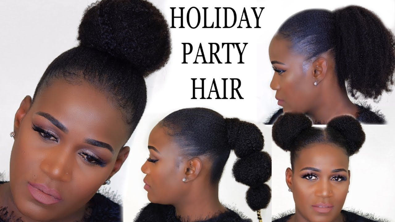 holiday party hairstyles for 4c natural hair | betterlength