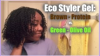 Eco Styler Gel Wash and Go on Natural Hair: Protein vs. Olive Oil