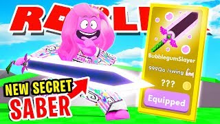 *NEW* SECRET SABER!! ONLY *MAX RANK* PLAYER HAS ONE IN ROBLOX SABER SIMULATOR!! [NEW UPDATE]