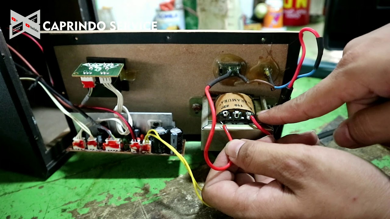 Cara Memperbaiki Speaker Simbadda Cst 6100n Youtube