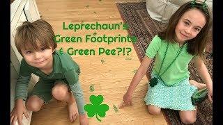 LEPRECHAUN Green Footprints & Green PEE?!?