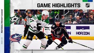 Stars @ Blue Jackets 10/25/21 | NHL Highlights