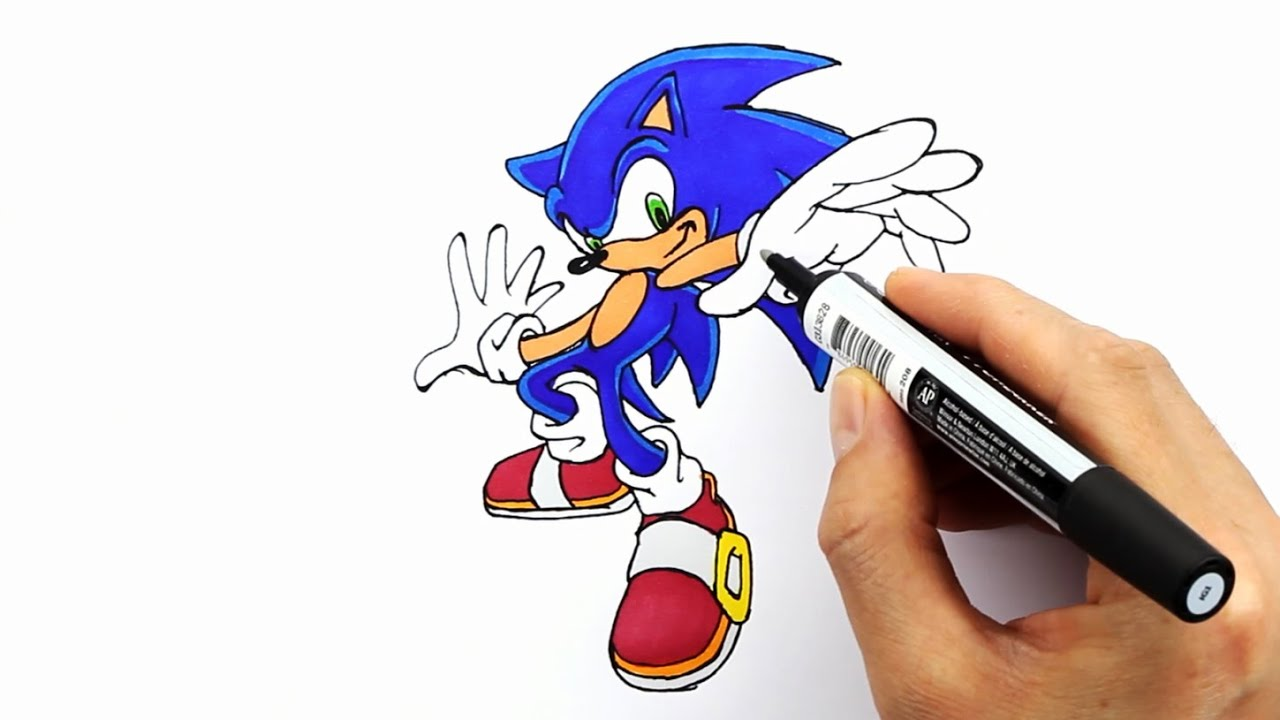 Sonic The Hedgehog Drawing And Coloring Kirpi Sonic Cizimi Ve