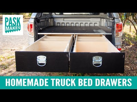 Truck Bed Storage Drawers >> Homemade Truck Bed Drawers Youtube