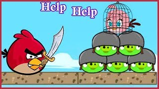 Angry Birds Heroic Rescue And Unfreeze Angry Bird - Rescue Stella Kicking PIGS