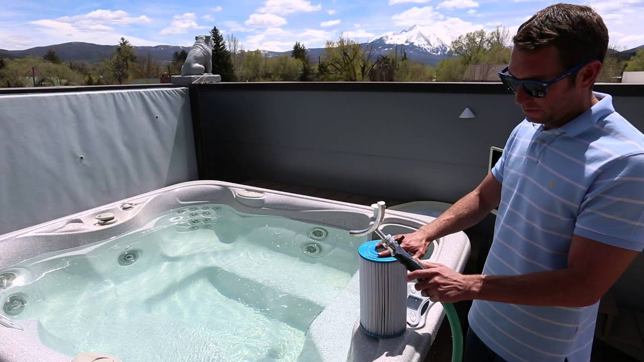 How to Clean Your Hot Tub Filters - YouTube