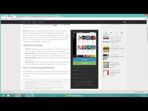 How To Install ZM Music Blogger Template [Video]