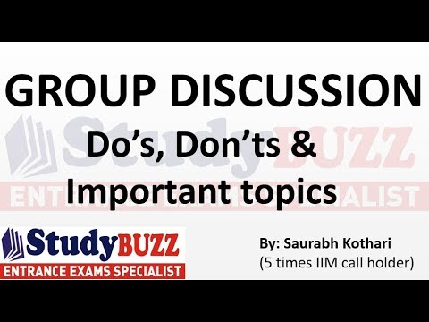 Group Discussion- How to speak and Important topics for MBA!