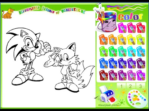 Sonic Coloring Pages - Sonic Games