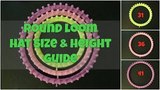 Round Loom Hat Size and Height Guide