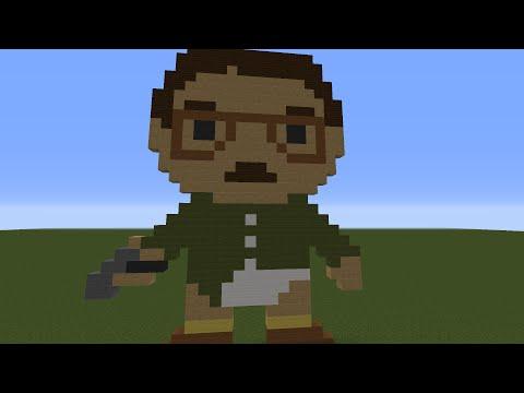 Minecraft Tutorial: Pixel Art Breaking Bad: Walter White