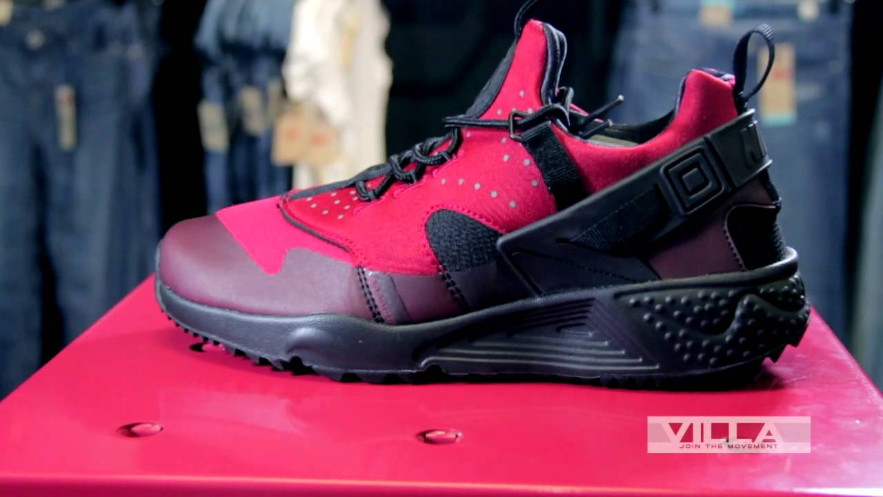 5b764d1bc24268 Nike Huarache Utility Red Black - Detailed Look - YouTube