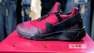 Nike Huarache Utility Red/Black - Detailed Look