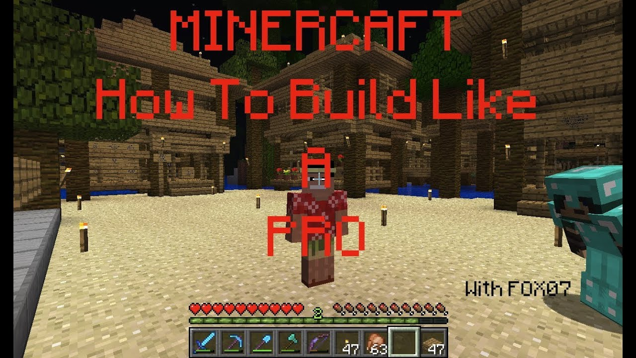 Minecraft how to build like a pro window designs youtube for Window design minecraft