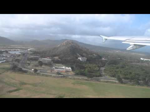 Air Canada Flight Taking Off From St Lucia
