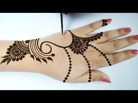 Mehndi Design trick -  Beautiful Dots Mehndi Design-आसान मेहँदी डिज़ाइन || Latest Stylish Mehndi