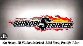 [PS4] Naruto to Boruto Shinobi Striker- Max Money, VR Missions Unlocked, 2300 Items, Prestige 7 Save