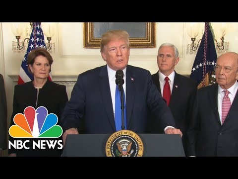 President Trump Announces Trade Penalties Against China: 'This Is The First Of Many' | NBC News