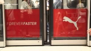 JCDecaux Transport HK - PUMA Boosts Brand Image with Whole Track Domination at MTR Tsim Sha Tsui
