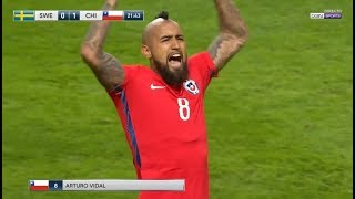 Arturo Vidal vs Suecia/Sweden ► Amistoso/Friendly ► 24/03/2018