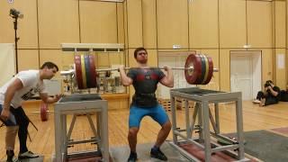 Тренировка толчка с груди в сборной РФ