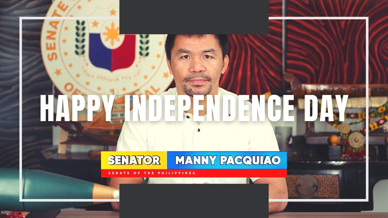 MANNY PACQUIAO wishing everyone a HAPPY INDEPENDENCE DAY! 🇵🇭