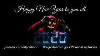 Happy new year 2020 - AVEE PLAYER Template = Free download