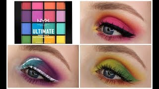 NYX ULTIMATE BRIGHTS PALETTE | 3 Looks, 1 Palette!
