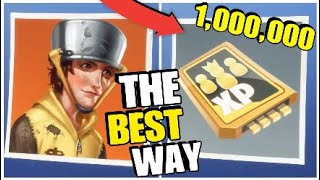 How To Get 1,000,000 Survivor XP (Fortnite Save The World)