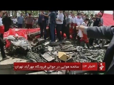Plane crashes near Tehran's Mehrabad airport, killing dozens