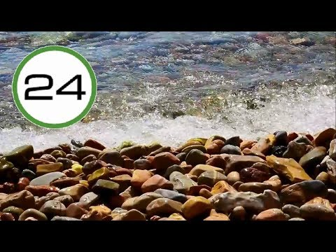 Sound of Soft Waves 🌊🌊 on the Shore of Lake Relaxing Waves for Sleeping Studying Meditating Relaxing