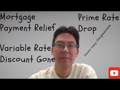 Mortgage Payment Relief, Prime Rate Drop And Discount On Variable Rate Mortgage Gone